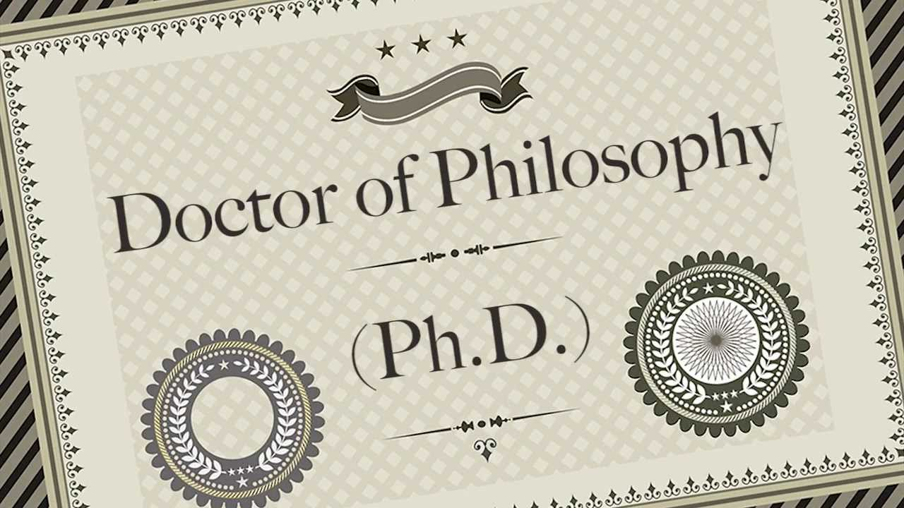 Doctorate degree by thesis only